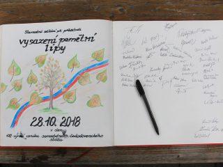 Zasazení pamětní lípy 28.10.2018