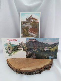 Pohled hrad Pernštejn - historický